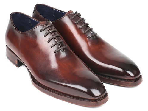 Paul Parkman Goodyear Welted Wholecut Oxfords Brown Hand-Painted (ID#044BRW)