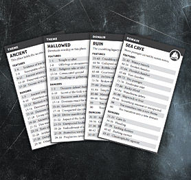 Delve Site Cards