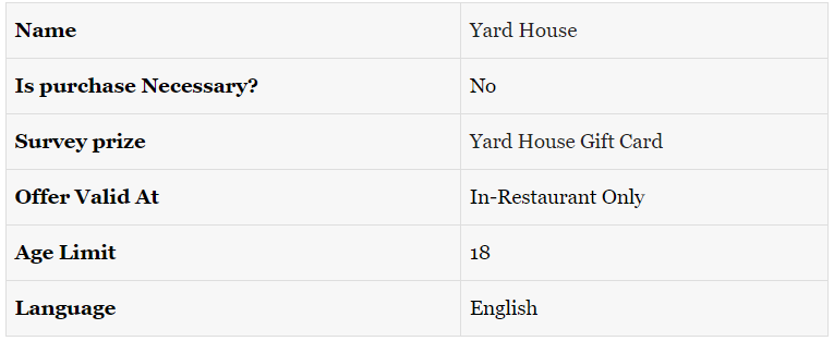 Details of Yard House