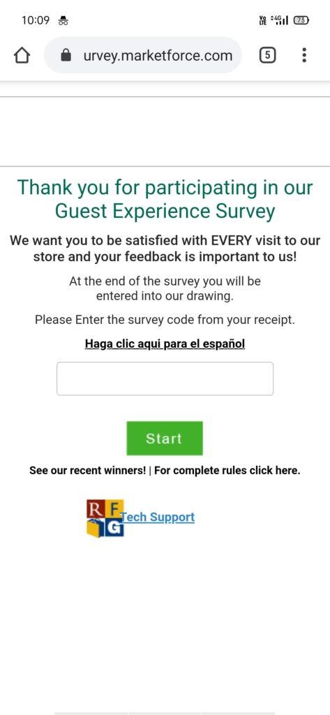 Mygroceryfeedback.com Guest Satisfaction Survey Win $100