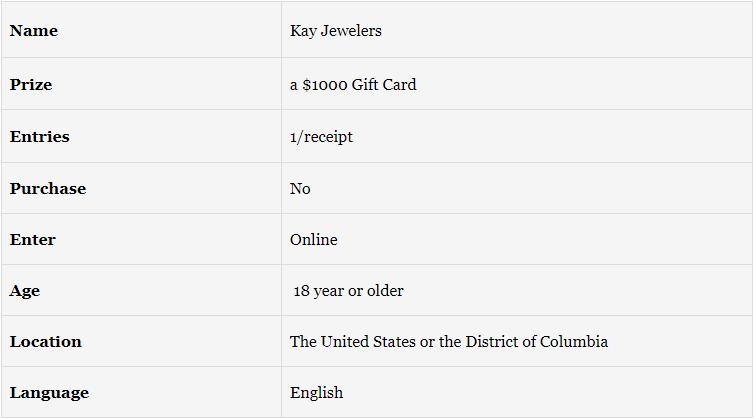 Kay Jewelers Survey Details