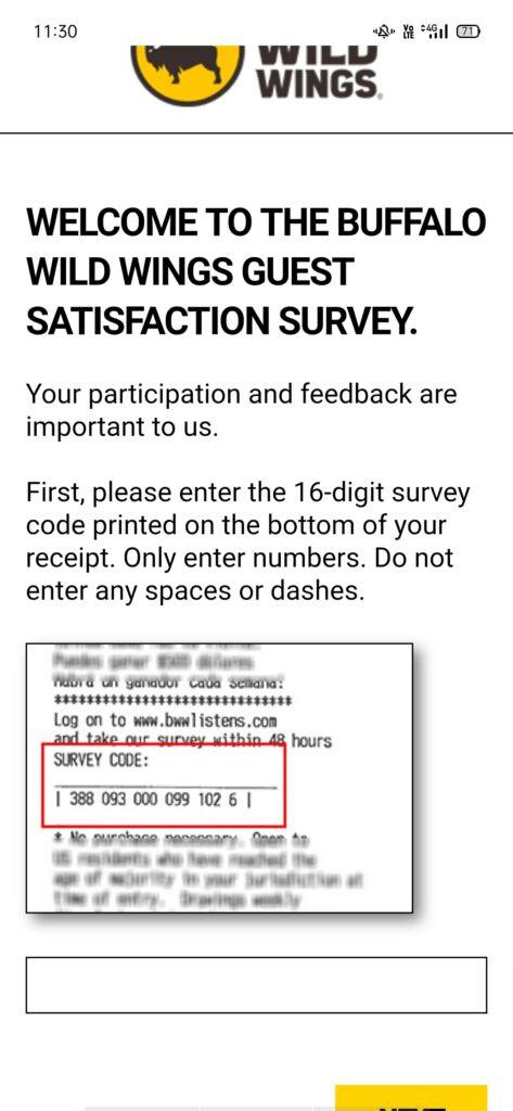 bwwlistens.com |Official Buffalo Wild Wings Survey