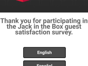 www.jacklistens.com | Jack in the Box Survey