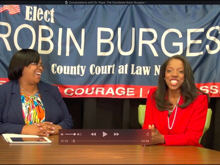 Sneak Peek into Conversations with Dr. Pope: The Candidate Robin Burgess