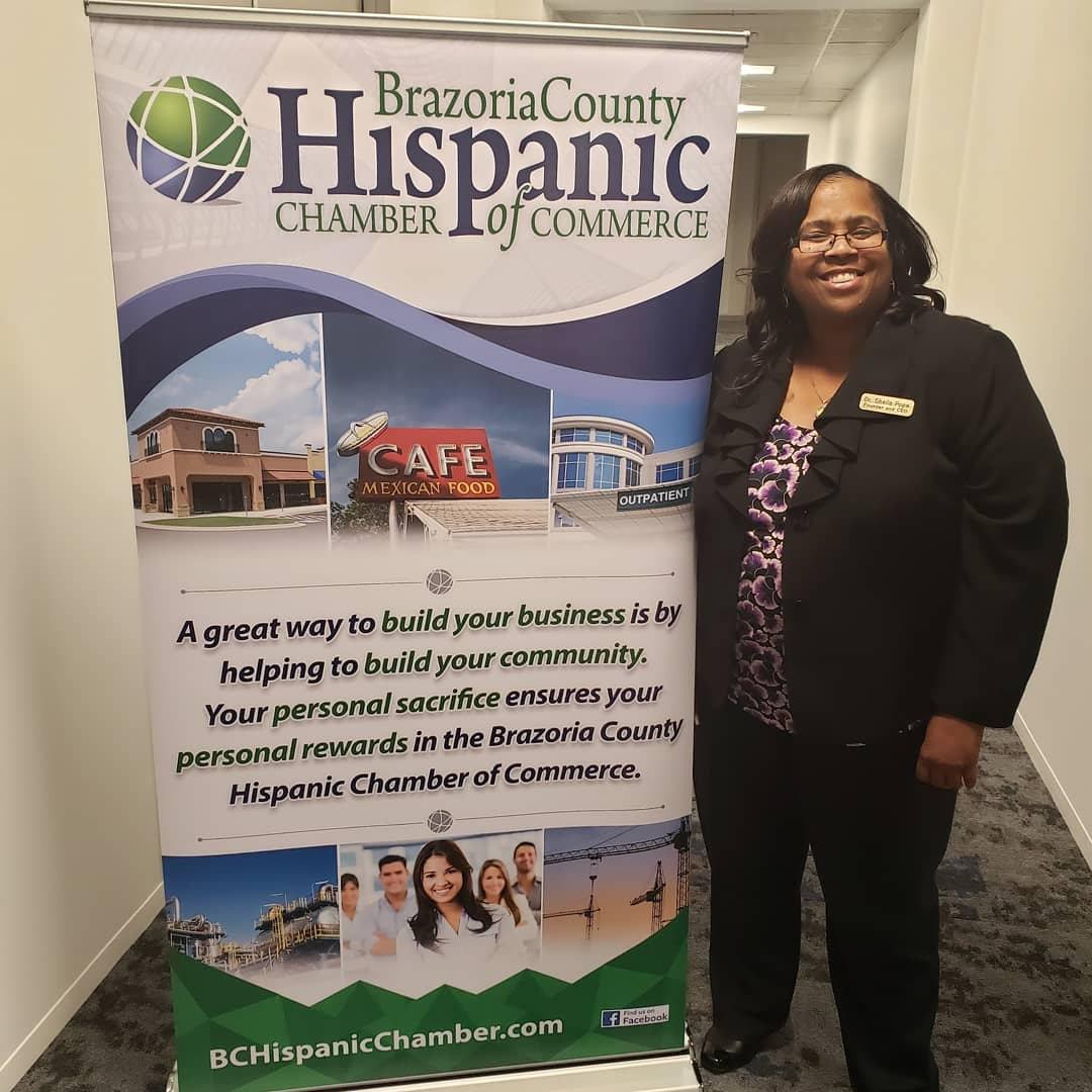 Attending Brazoria County Hispanic Chamber Meeting