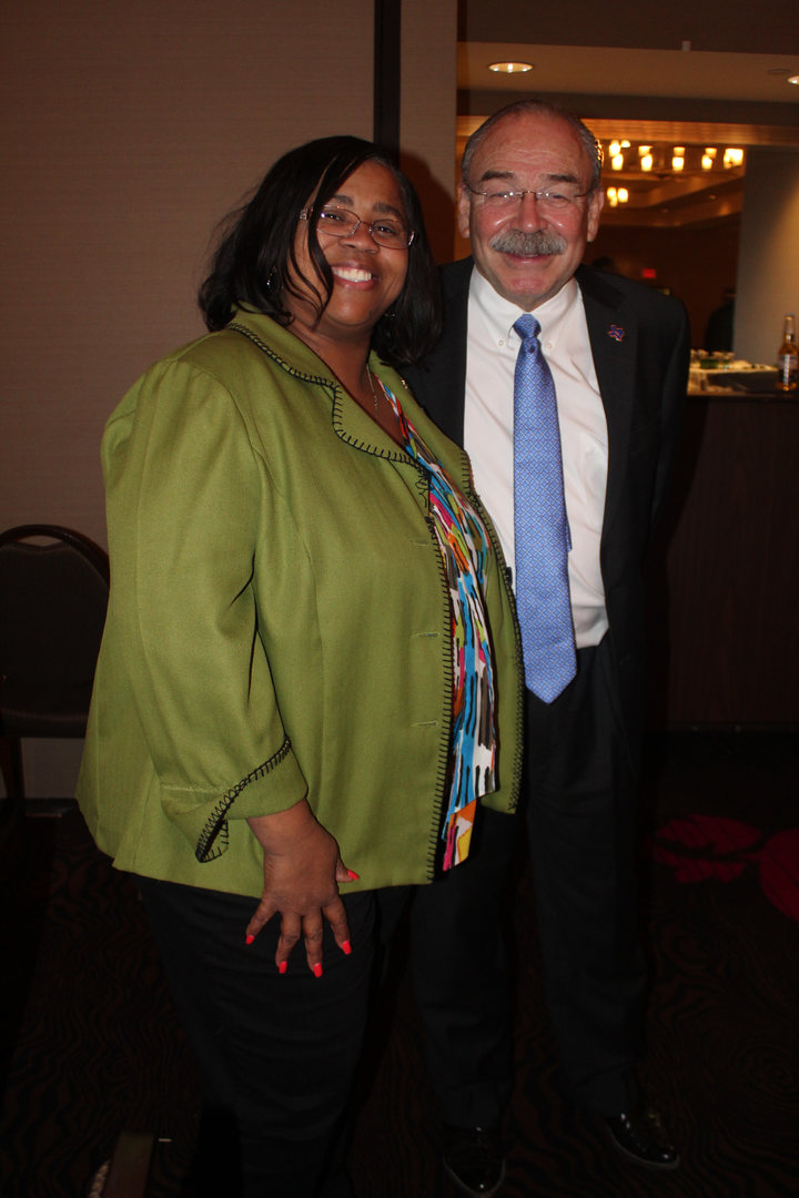Dr. Pope with Chairperson of Texas Democ
