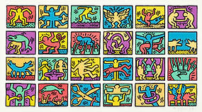 Haring-Inspired Small Scale Art
