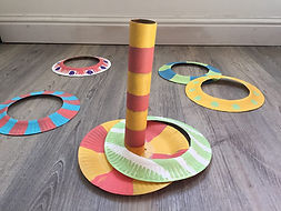 ATHLETICS: Discus Paper Plate Ring Toss