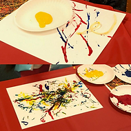 Small Scale Pollock-Inspired Drip Art With Yarn