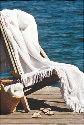 LUXURY FRINGED BEACH TOWEL