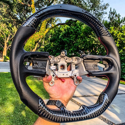 2018+ Jeep JL/JLU/JT Carbon Fiber Steering Wheel with LEDs