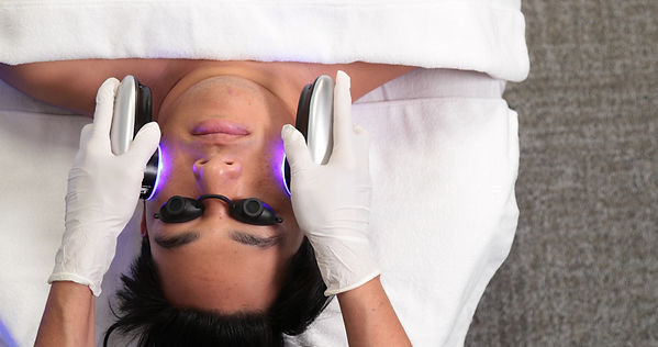 Blue LED light therapy at SpaGo Med Spa