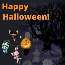 Happy Halloween Social Media Design plug.dj