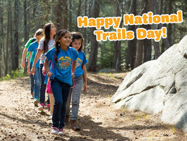 Promoting National Trails Day on Facebook for Girl Scouts
