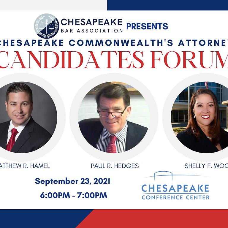 Chesapeake Commonwealth's Attorney Candidates Forum