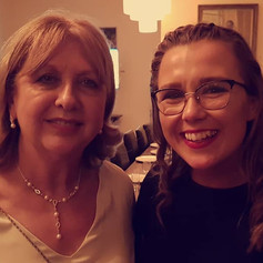 With former Mary McAleese at the DCU Leadership Awards