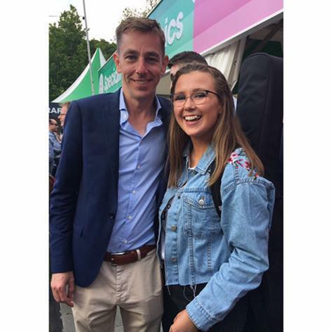 With Ryan Tubridy at the Taste of Dublin Event 2018