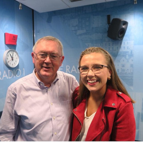 With Sean O' Rourke of RTE Radio 1