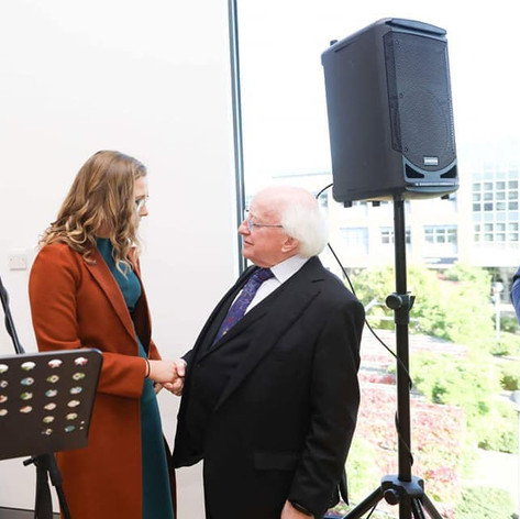 With President Michael D Higgins