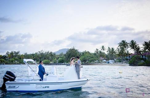 Photo de couple en mer