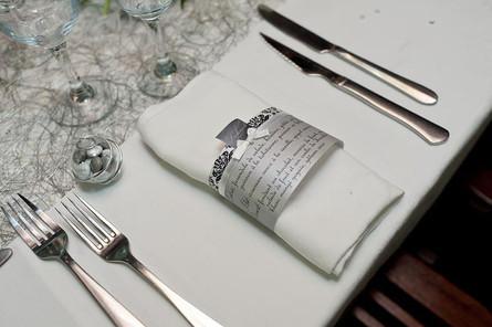 Couverts table de mariage