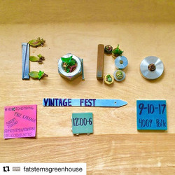 ❤️LOVE LOVE LOVE! _fatstemsgreenhouse will be with us this SUN _eadovintagefest !! with their super