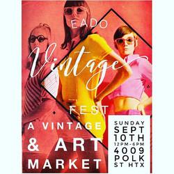 TOMORROW!! bring yo' self✌🏼❤️ ♻️🎨🍺🤘🏽💪🏾 _eadovintagefest 4009 POLK ST HTX 12-6 #vintage #art #