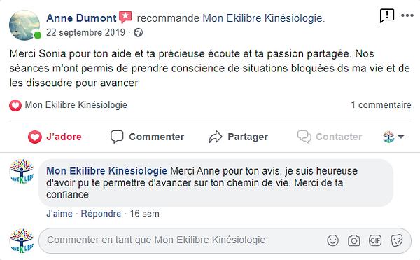 temoignage Mon ekilibre kinésiologie  kinésiologue Quimperlé peur phobie anxiete bien etre calme serenite depression stress deprime Lorient