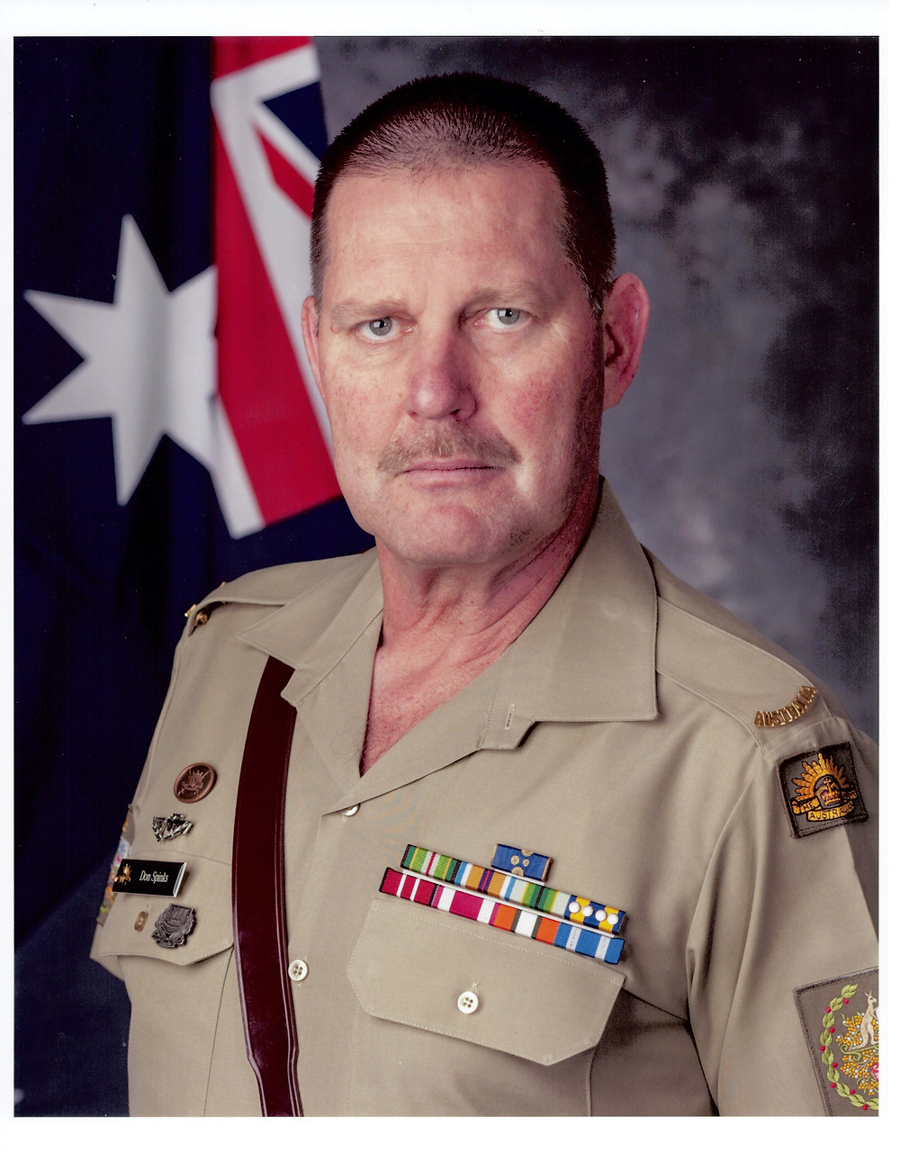 picture of Don Spinks who was RSM of the Army and will soon be the Repatriation Commissioner