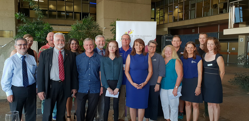 picture of those involved in the grant presentation ceremony at Townsville City Council