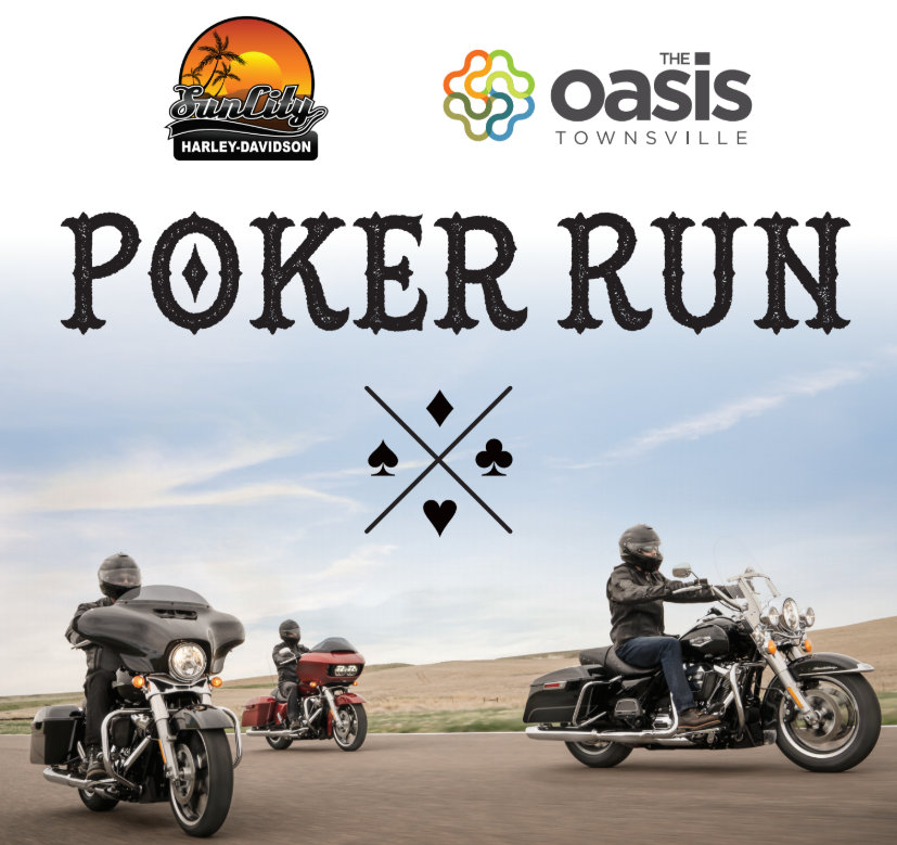 Poker Run poster by Sun City Harley-Davidson for The Oasis Townsville