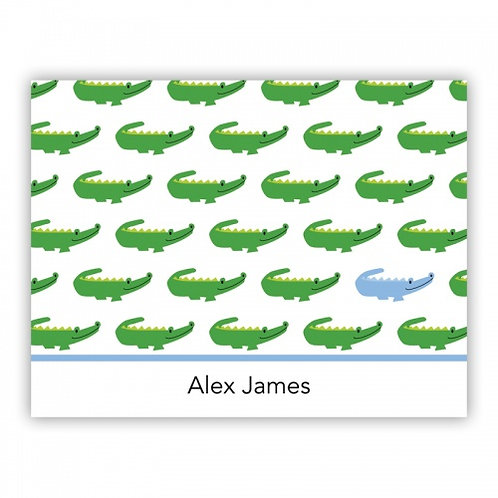 Alligator Blue Folded Note Set