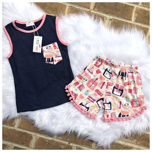 Two Piece Back to School Short Set by Pete and Lucy
