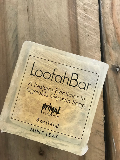 Loofah Bar Soap 5.0 oz. - MINT LEAF