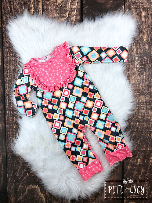 Diamond Starburst Romper Infant Pete & Lucy