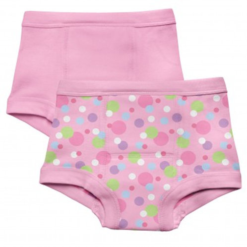 Reusable Absorbent Training Underwear- GIRL  (2 pack)