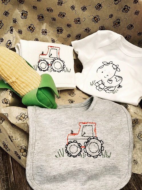 New baby farm and tractor gift set