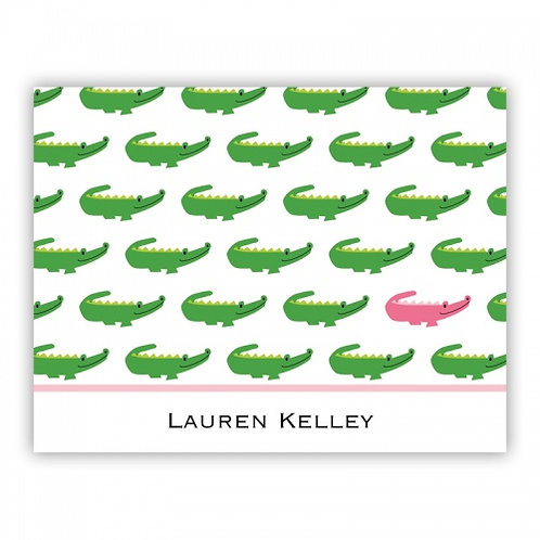 Alligator Pink Folded Note Set
