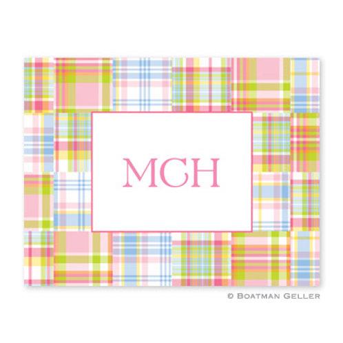 Madras Patch Pink Folded Note Set