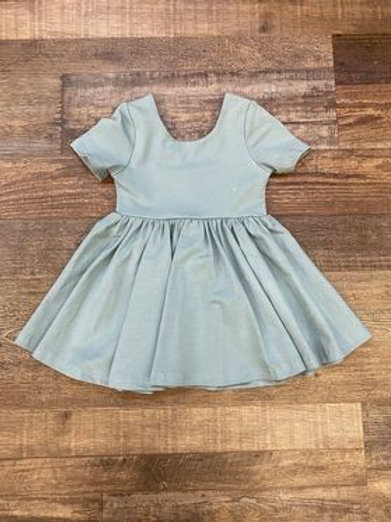 Deep Teel Short Sleeve Dress
