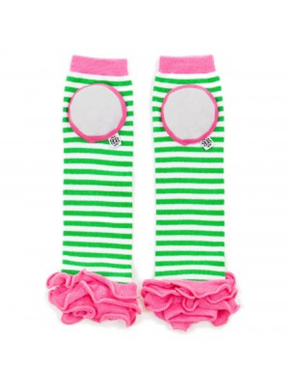 HAPPY KNEES RUFFLED LEGWARMERS - WATERMELON STRIPE