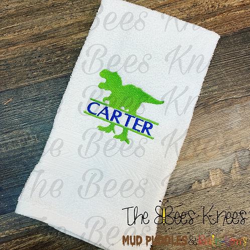 Dinosaur name towel