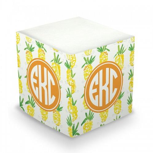 Pineapple Sticky Memo Cube