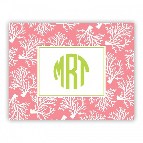 Coral Repeat Melon Folded Note Set