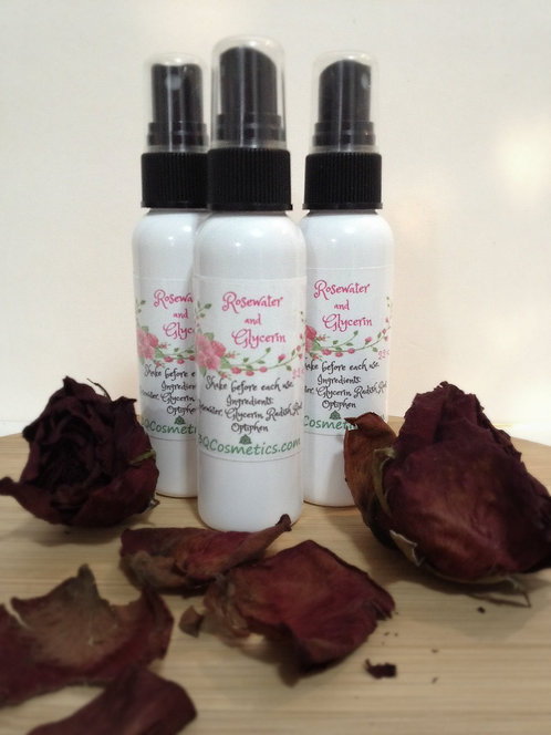 Rosewater and Glycerin Spray