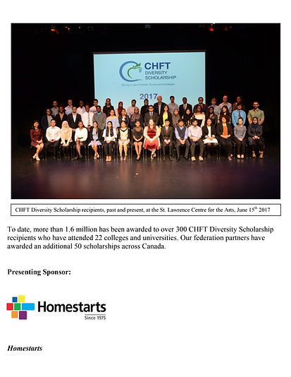 Recipients of the CHFT Diversity Scholarship Program