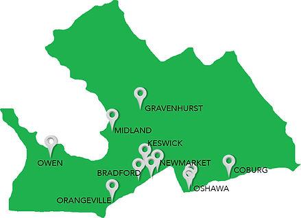 Central Ontario Region of clients