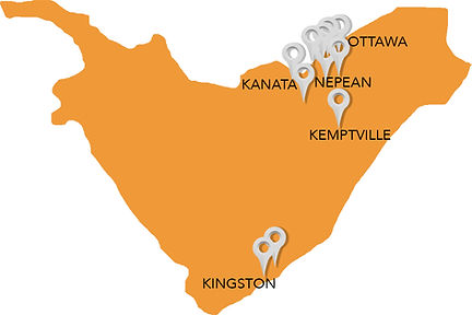 Eastern Ontario Region of clients