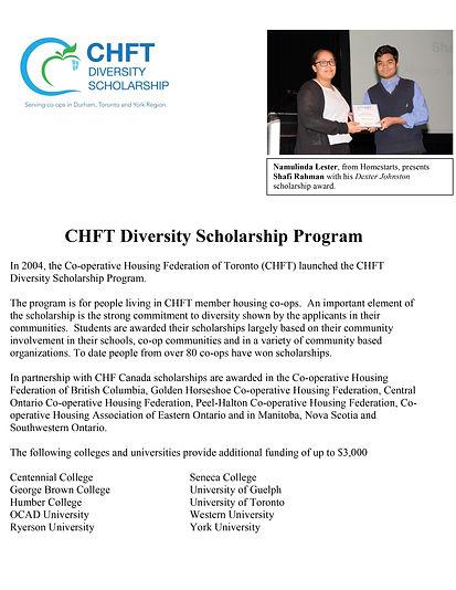 CHFT Diversity Scholarship Program