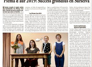 Plema d'aur 2019: Success grondius en Surselva